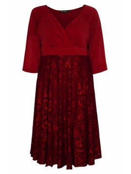 All Star Special Katherine Plus Size Dress in Ruby Lace